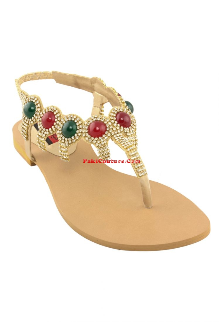 shoenbags-golden-casual-sandals-with-multi-colored-stones-and-diamante-studded-strap-2717-8477-1