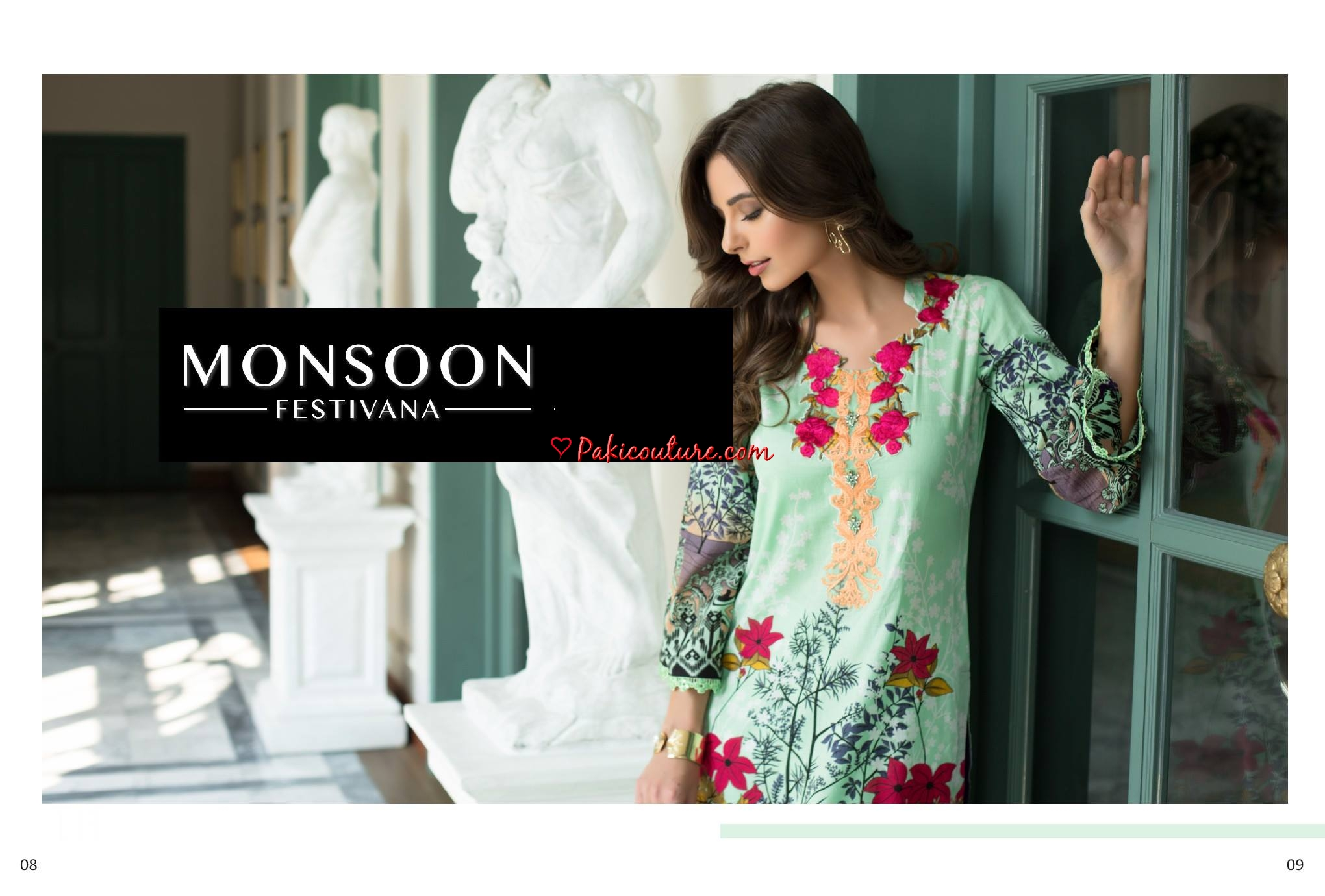 Monsoon Wedding Dresses 2019: Monsoon Festivana Embroidered Lawn Collection 2019