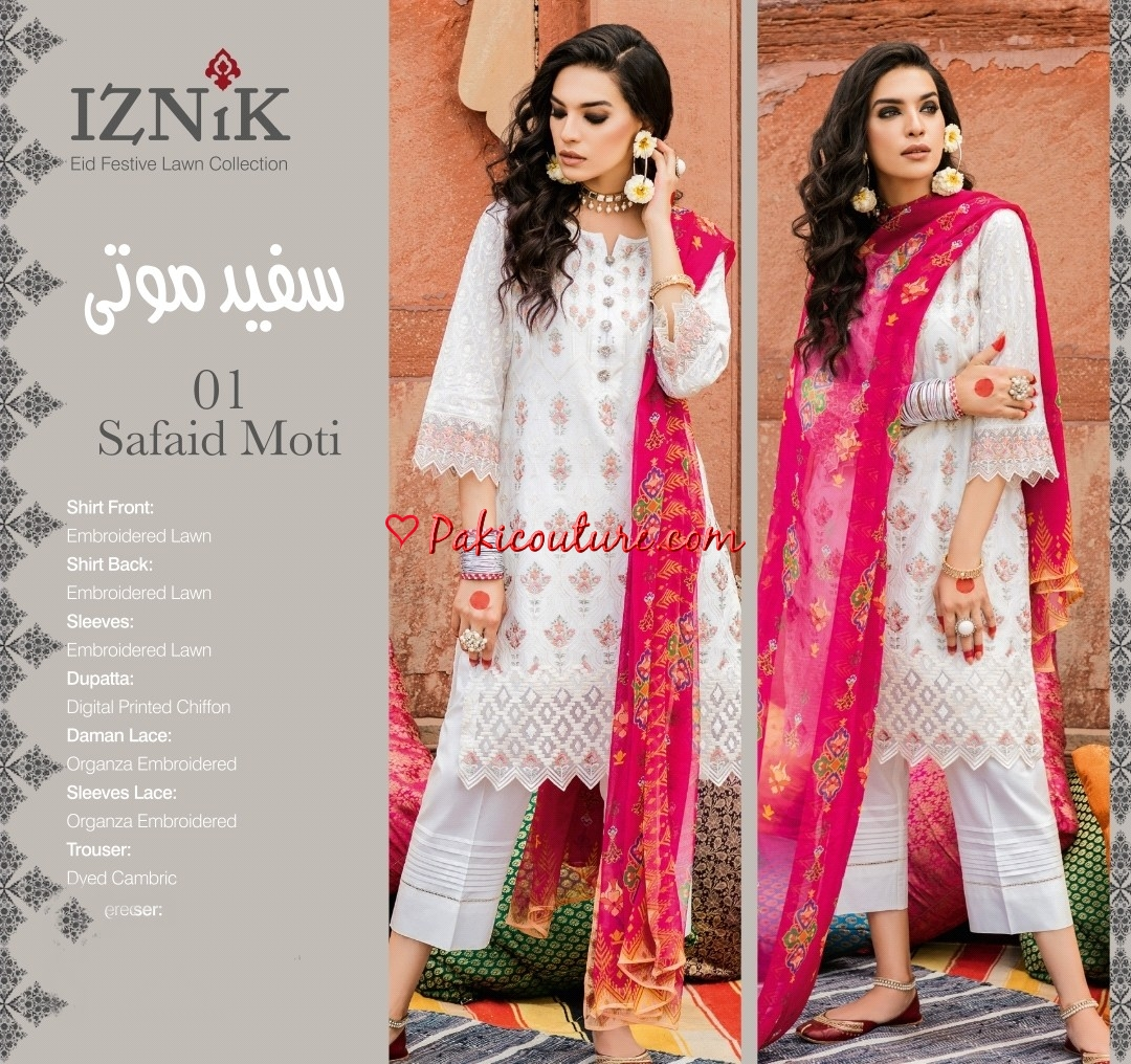 7a372a312ef Iznik Eid Festive Chand Bali Lawn Collection 2019 Shop Online