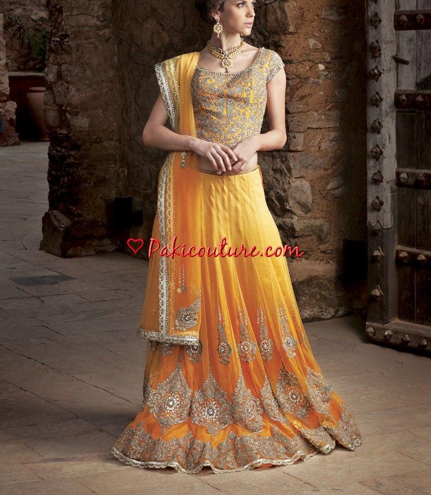 Mehendi Dresses – Dulhan Mehndi Wear Collection at