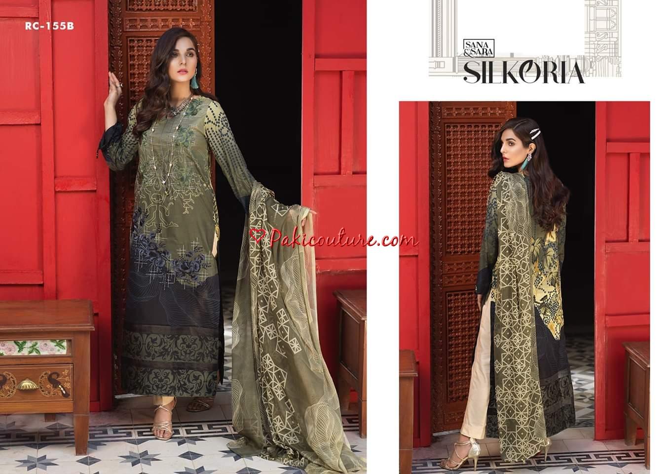 75ff097d88 Sana & Sara Silkoria Embroidered Lawn Vol-3 2019 Shop Online | Buy ...