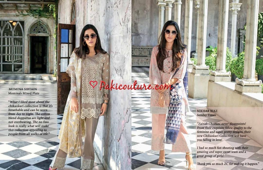 cd1961f068 Zainab Chottani Luxury ChikanKari Fusion 2019 Eid Collection Shop ...